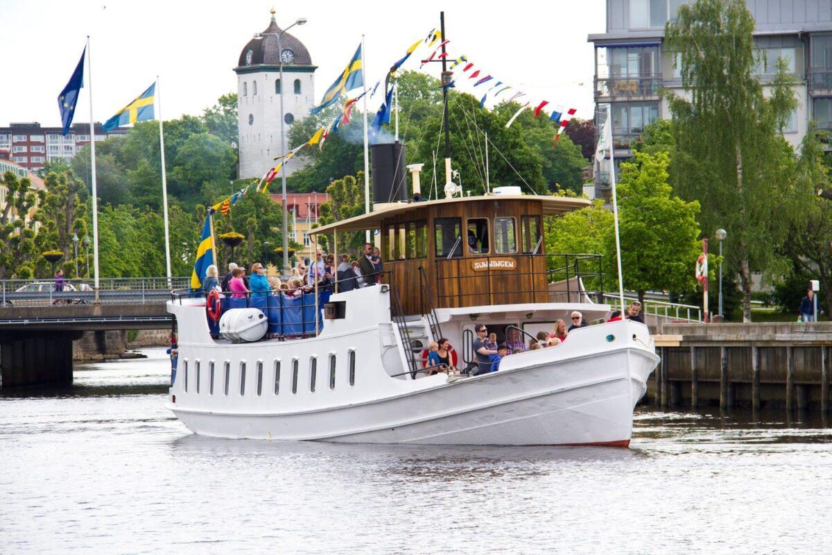 skärgårdsbåt bröllop